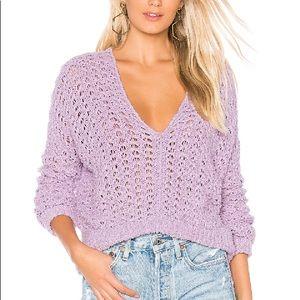 Free People Best of you sweater Purple Moon